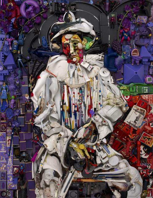 L'Arlequin de Bernard Pras oeuvre contemporaine en hommage a Pablo Picasso