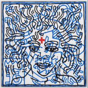 keith haring représente Michael Jackson dans son oeuvre contemporaine untitled