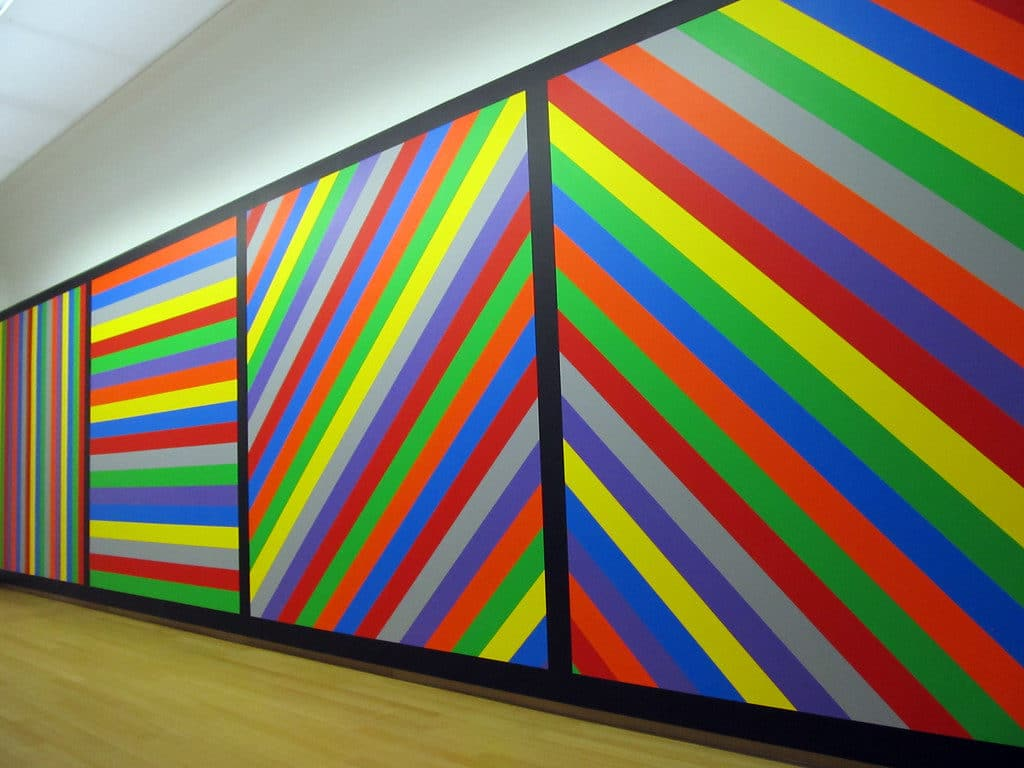 "L'art conceptuel Sol Lewitt ""Wall Paintings"""